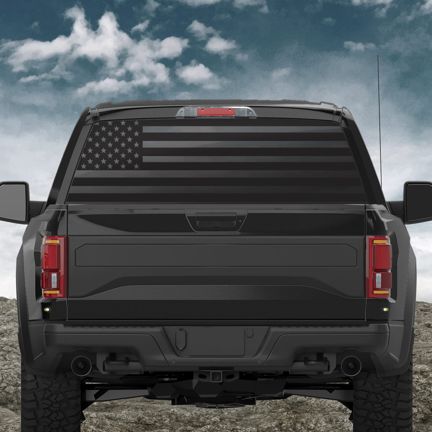 American Flag Back Window Decal Patriot - Back window decals for trucks
